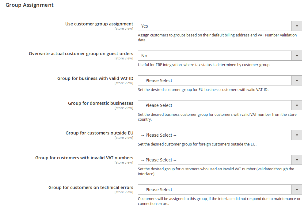 Magento dynamic customer group assignment