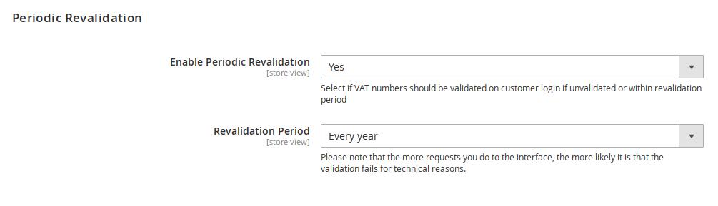 Revalidation of EU VAT numbers