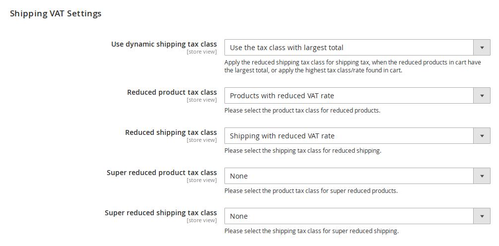 Magento dynamic shipping tax