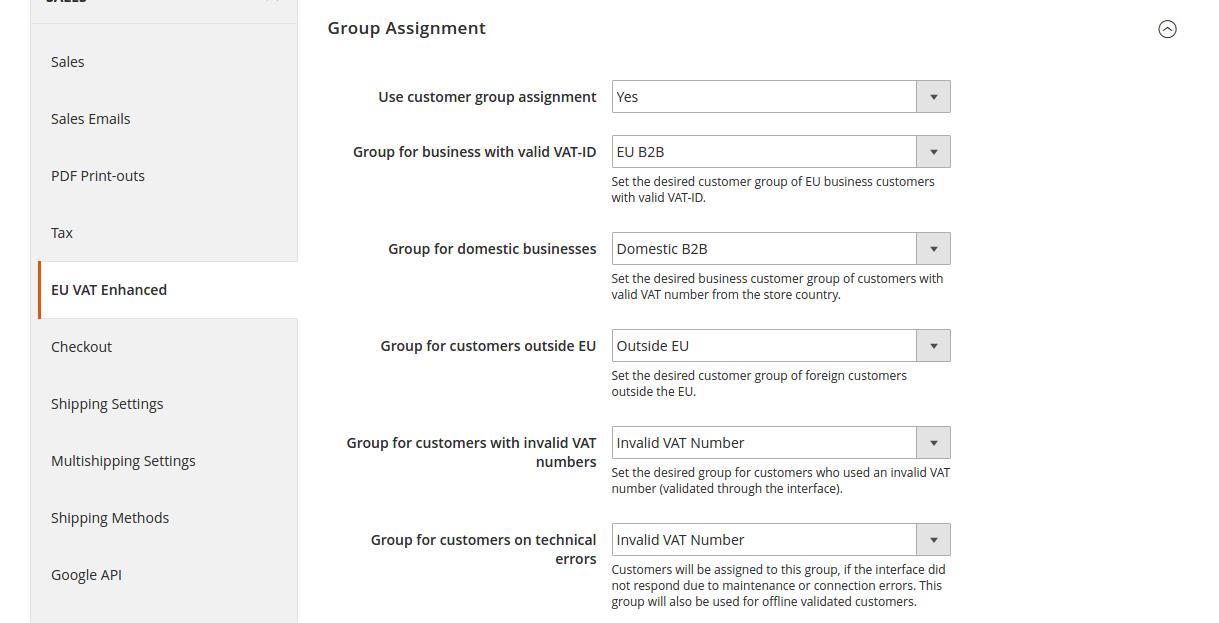 Group settings
