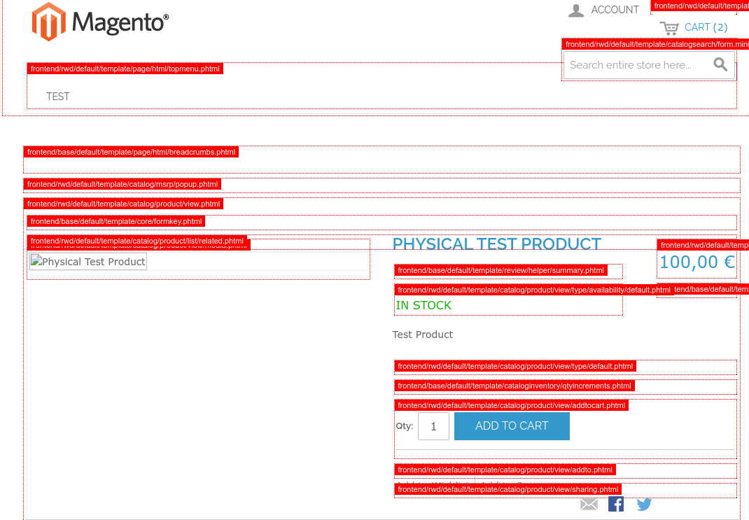 Template Path Hints are shown for the current page